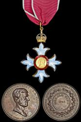 The Medals awarded to Bangor graduate, Harold King, which are to be auctioned.