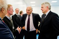 Dr Peter Holliman discussed his collaboration work with Energy Secretary Vice Cable and First Minister Carwyn Jones.