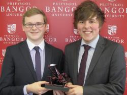 Aaron Clegg (left) and Adam Gulliver, champions of the 2014 LexisNexis Welsh National Mooting Competition.