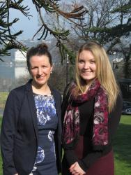 Annabelle Joy (right) with Law lecturer Dr Yvonne McDermott Rees
