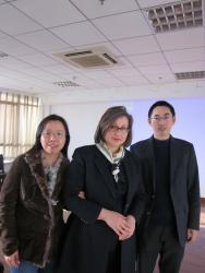 Professor Linton with Professor Ye and Professor Song Jie of Zejiang Gongshang University Law School after her public lecture on 'Hong Kong's War Crimes Trials, 1946-1948'