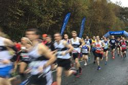 Runners at the start of the recent Snowdonia Marathon