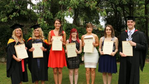 Some of the graduates awarded prizes for achieving First Class Honours