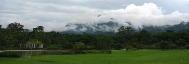 Landscape of  Xishuangbanna Tropical Botanical Garden (XTBG) in Yunnan, China