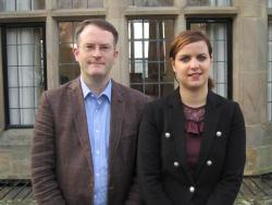 Final year student Haude with Dr Mark Hyland, member of the Law School's Employability Committee