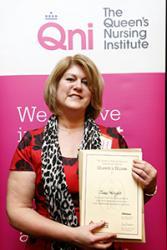 Jane Wright receiving her Award.: credit Kate Stanworth