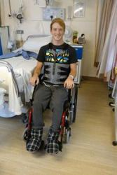 Joe shortly after his accident. : Rhi Willmot, Author provided