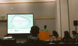 Dr Jordi Pages speaking at the Ecological Society of America Annual Meeting in Portland, Oregon, USA