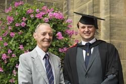 Josh with his Grandfather, who also graduated from Bangor in the 60s