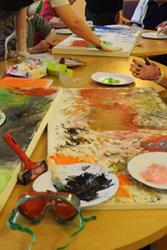 A Dementia & Imagination art workshop.