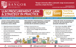 LLM Procurement Law, Strategy, in Practice (by Distance Learning)