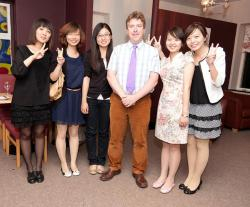 Professor Cahill, Head of School, with delegates from China's Renmin University