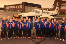 The members of the Women's ECB team that Leonie worked with.