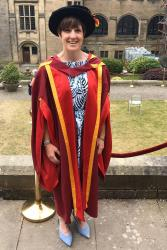 Leonie at her recent PhD Graduation Ceremony