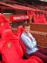 Marketing graduate Luke Edwards is currently working for Manchester United