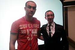 Luke Cleverly with Sheridan Simove, a serial entrepreneur/motivational speaker/channel 4's commissioning director of Big Brother in 2003