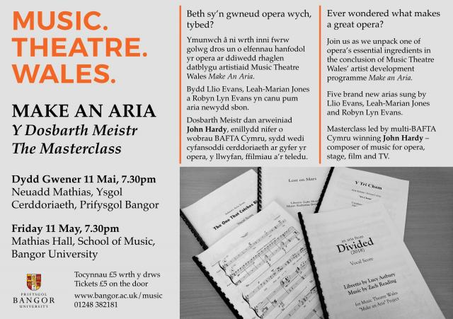 Make An Aria Masterclass – News and Events, Bangor University