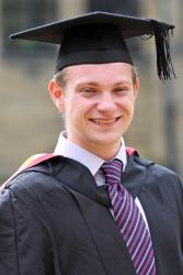 Mark Barrow at his graduation earlier this summer.