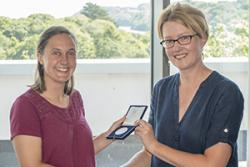 Megan Barker with Professor Carol Tully