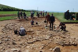 Members of the public are invited to see what archaeologists, students and volunteers have uncovered at the exciting Meillionydd archaeological dig at Rhiw.