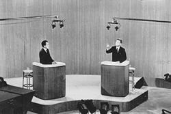 Kennedy and Nixon TV debate.: Associated Press, Creative Commons. Wikimedia Commons