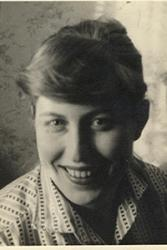 Sheila Parry (nee Davies) during her college days.