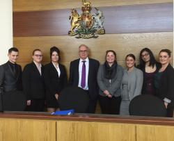 Annabelle and Bethan (second and third from left, respectively) have made it through to the next round of the OUP Moot