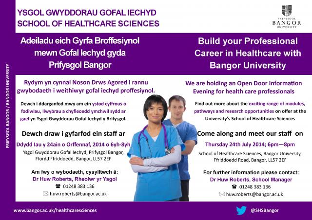 Build your Professional Career in Healthcare with Bangor