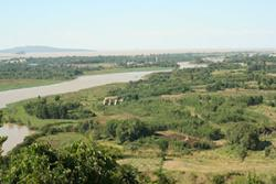 A view of the Blue Nile, with Lake Tana seen in the background : Photo courtesy of Prof H Lamb