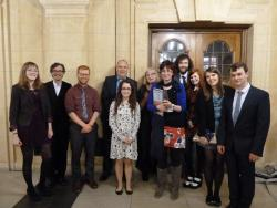 Staff and students from the School of History are joined at the Awards by two former Bangor History graduates:  Antony Butcher (SU President) and Rhys Taylor (VP for Education and Welfare)