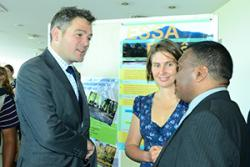 Dr Julia Jones with Timothy Smart, the UK Ambassador to Madagascar at the project launch.