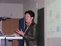 Guest speaker Barbara Lochbihler MEP delivers a fascinating lecture