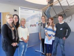 The Bangor crew present their finished poster on Volunteer Engagement