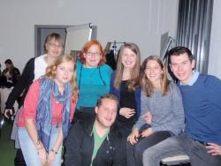 The Bangor group had plenty of opportunity to socialise with students from other European countries