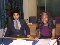 Bangor University Law School Moot Competition winners 2013 - Mohammed Khorasanee and Miriam Mbah