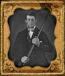 Phineas Gage, after injury. : Originally from the collection of Jack and Beverly Wilgus, and now in the Warren Anatomical Museum, Harvard Medical School.