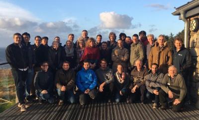 Meeting delegates at the beautiful workshop location at Nant Gwrtheyrn, Lleyn Peninsula, North Wales. Photo: Jordi Pagès