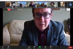 Dr Iestyn Pierce, head of School, introducing the virtual celebration