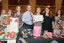Rebecca Smith and Becky Rigby won prizes for best stalls, sponsored by the BEA team.  The two joint winners won £50 in vouchers, as judged by Mari Roberts from the BEA and Chris Little, Head of the University Careers Service.