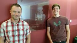 Rhys Gwynfor ( Right) with Rondo's Bedwyr Rees.