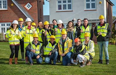 Bangor University students undertook a site visit to Redrow's Goetre Uchaf development last year.