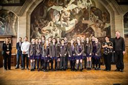 Pupils from Rhyl High School, one of the many local schools involved, visited the University to receive certificates at the end of their programme last year.