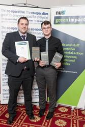 Rhys Dart (left) and Rhys Taylor of the Students' Union at the Awards event recently.