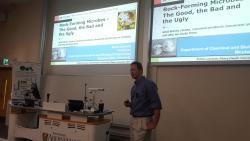 Prof. Robin Gerlach (MSU) speaking at Aberystwyth University