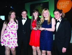Pictured from left to right are Jane Kelly, Richard Dallinson, Hannah Rettie, Emma Dixon and Joel Ellis