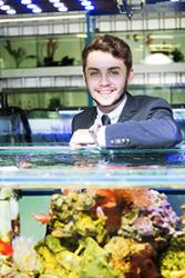 Sam Hamill, 20 year old Director of Big on Fish studies at the Universty's School of Ocean Sciences.