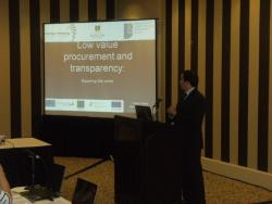Dr Pedro Telles delivers his paper entitled 'Low Value Procurement and Transparency: Squaring the Circle'.