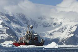 Miguel Angel Morales Maquedas and Jess Mead Silvester returned to the Antarctic Peninsula aboard RRS James Clark Ross earlier this year to deploy an EM-Apex float in the hope of observing more tidal mixing processes.