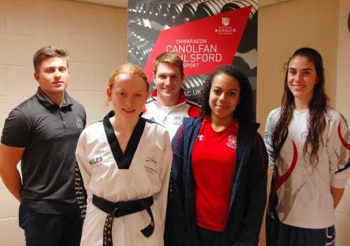 L-R: Lewis Parker, Rhiannon Williams, Owen Mitchell, Chelsea Naysmith-Miller and Rachel Turton