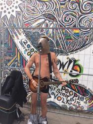 A street singer in Berlin